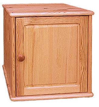 PL REGÁLY Dřevěný nástavec na jednodveřovou skříň