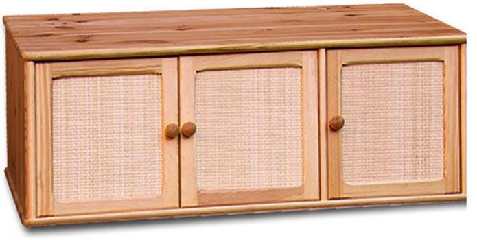 PL REGÁLY Dřevěný nástavec na skříň s ratanem
