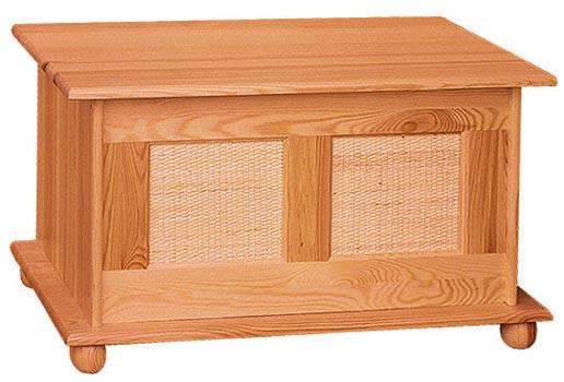 DREWAL Dřevěná truhla ratanová