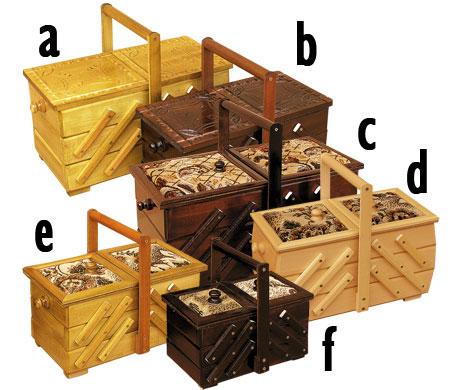 PL REGÁLY Dřevěná skříňka na šití střední