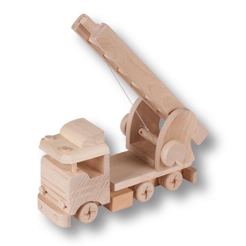 PL REGÁLY Dřevěné auto s žebříkem