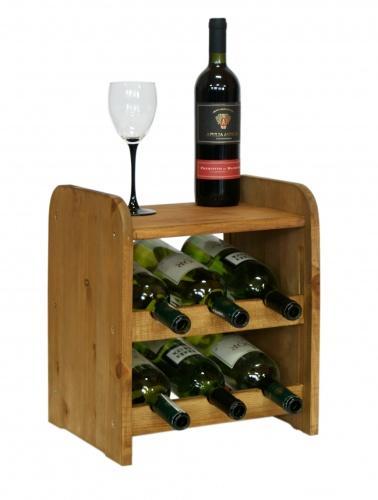 Regál na víno dřevěný RW-3-6P