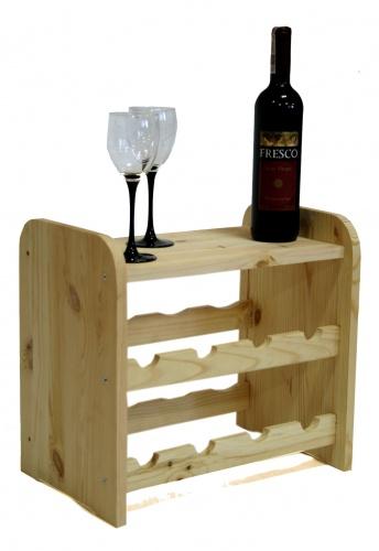 Regál na víno dřevěný 8 lahví