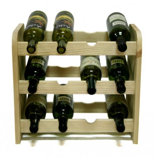 Regál na víno dřevěný