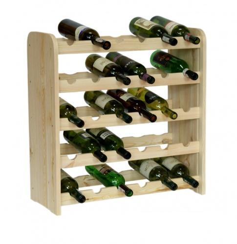Dřevěný regál na víno 3-30