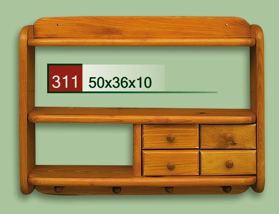 DREWMET Dřevěná polička 311