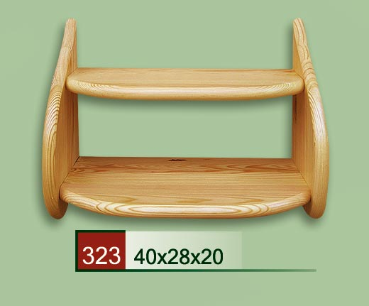 DREWMET Dřevěná polička 323