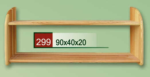 PL REGÁLY Dřevěná polička 299