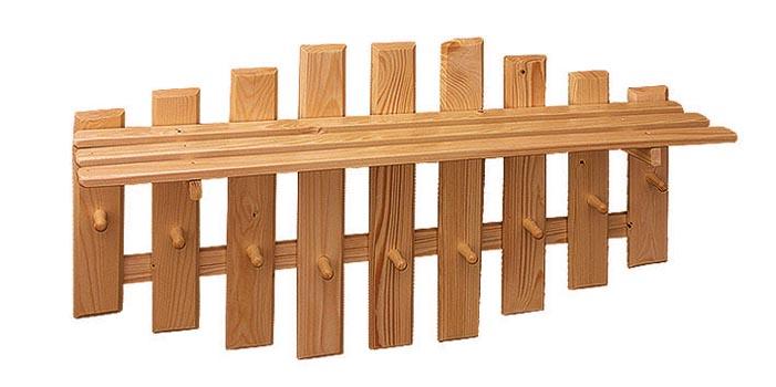PL REGÁLY Dřevěný věšák s poličkou 50X90