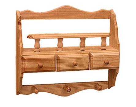 DREWAL Dřevěná polička se šuplíky