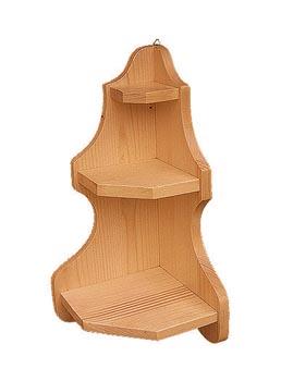 DREWAL Dřevěná polička rohová 48