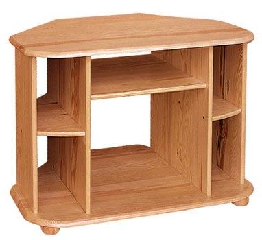 PL REGÁLY Dřevěný televizní stolek rohový