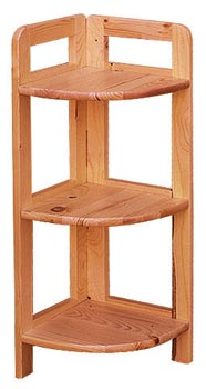 PL REGÁLY Dřevěný regál rohový 91cm