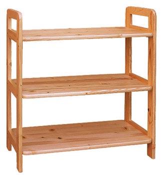 DREWAL Dřevěný regál 80cm