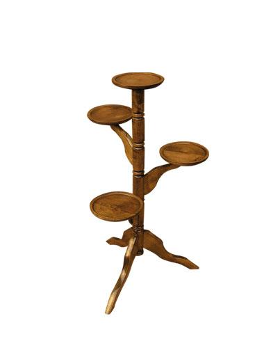 PL REGÁLY Dřevěný květinový stolek