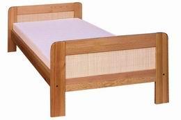 Døevìná postel Klára s ratanem 90x200 - zvìtšit obrázek