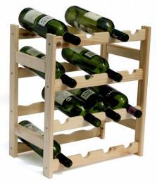 Regál na víno - 16 lahví  BOROVICE