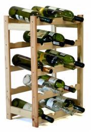 Regál na víno - 20 lahví BOROVICE