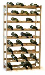 Regál na víno  - 56 lahví BOROVICE