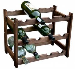 Regál na víno - 12 lahví dub