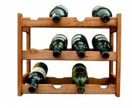 Stojan na víno - 12 lahví olše