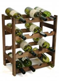 Regál na víno - 16 lahví dub