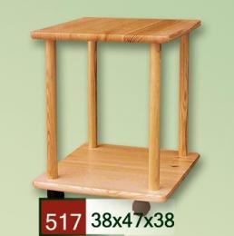 Stolek servírovací ètvercový 517 s koleèky - zvìtšit obrázek