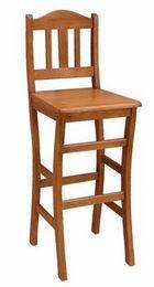 Døevná židle barová