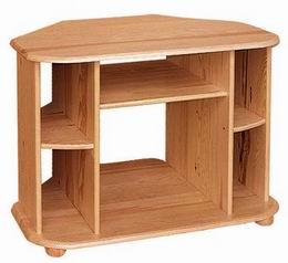 Døevìný televizní stolek  rohový  - zvìtšit obrázek