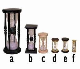 Døevìné pøesýpací hodiny  - zvìtšit obrázek