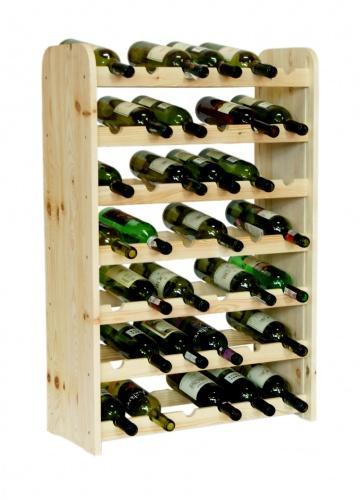 Regál na víno - 42 lahví BOROVICE