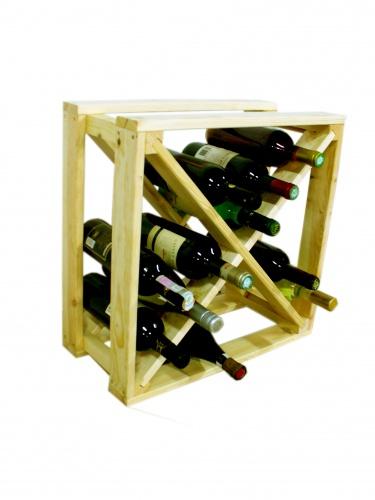 Regál na víno - køížový BOROVICE